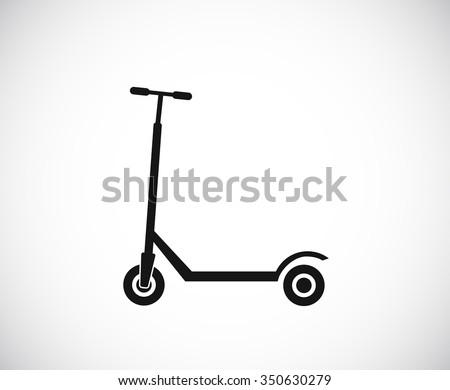 kick scooter black icon - stock vector