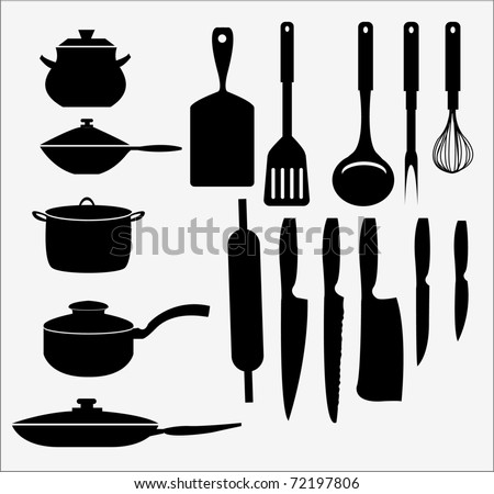 kicthen elements - stock vector