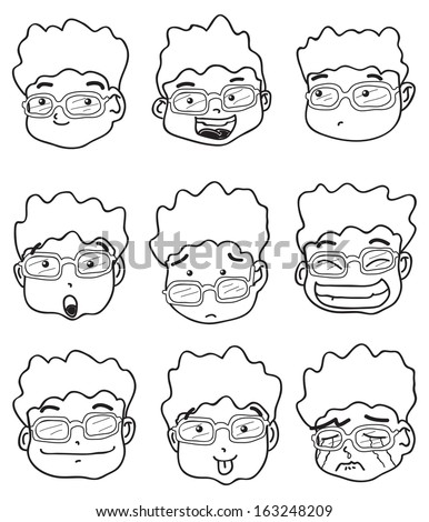 kid expressions - stock vector