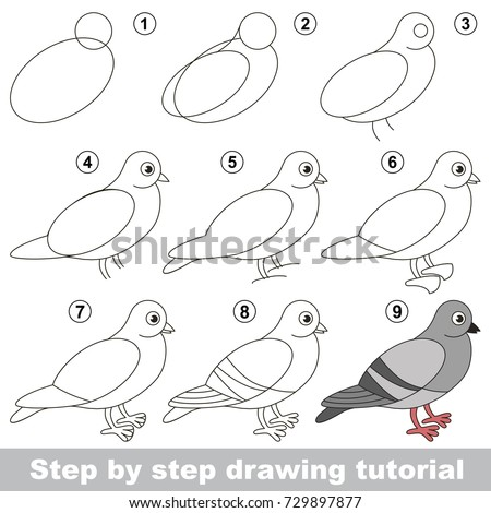 Kid Game Develop Drawing Skill Easy Stock Vector 729897877 ...