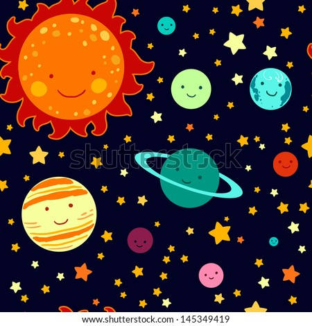 Set planets solar system cartoon style flat icon stock vector image - Stock Images Similar To Id 22568770 Children Playing In