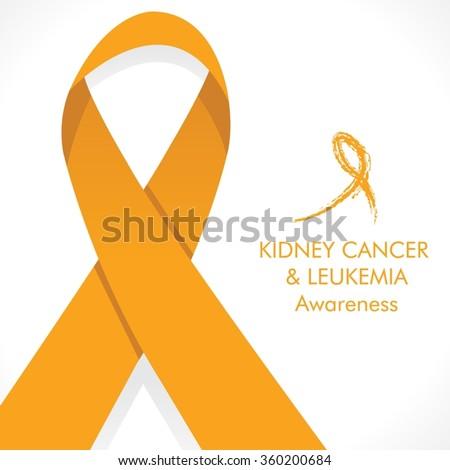 kidney cancer leukemia cancer awareness orange stock vector royalty