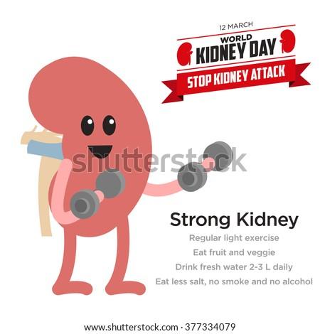 Kidney Health Awareness template - stock vector