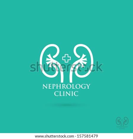 Kidneys symbol - vector illustration - stock vector