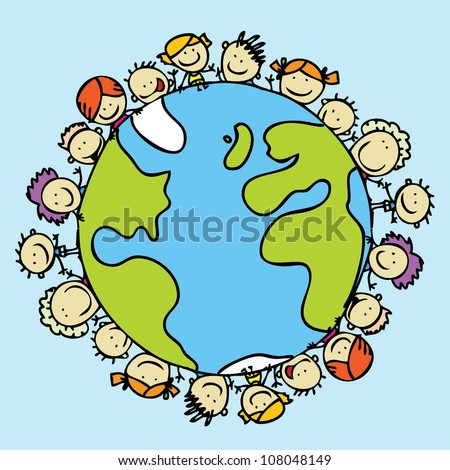 Kids around the world together save the planet earth