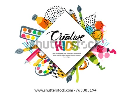 Kids art craft education creativity class 763085194 for Arts and crafts logo