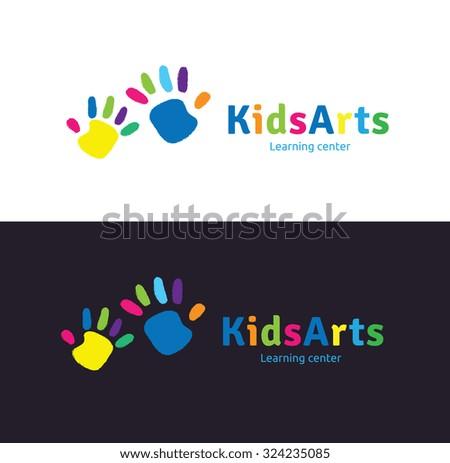 Kids Arts Vector Logo Template - stock vector