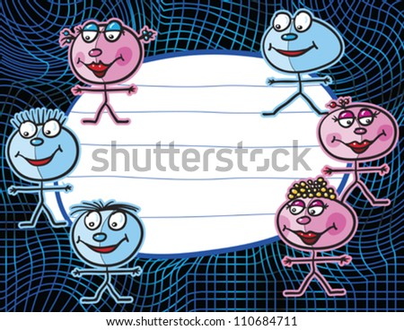 kids background, abstract vector art illustration - stock vector