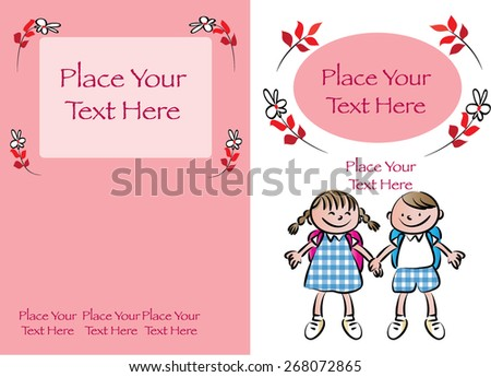 kids book cover design with red background