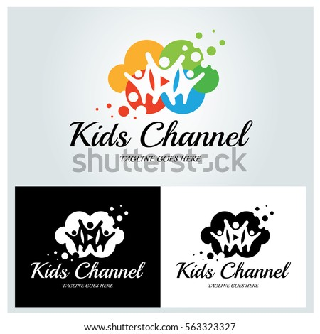 Kids Channel Logo Design Template Colorful Stock Vector HD (Royalty ...