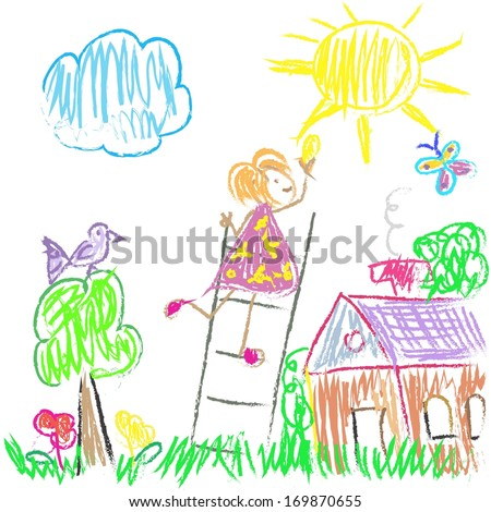 Kids Colored World - stock vector