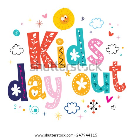 kids day out - stock vector