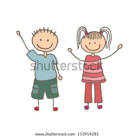kids design over white background vector illustration - stock vector
