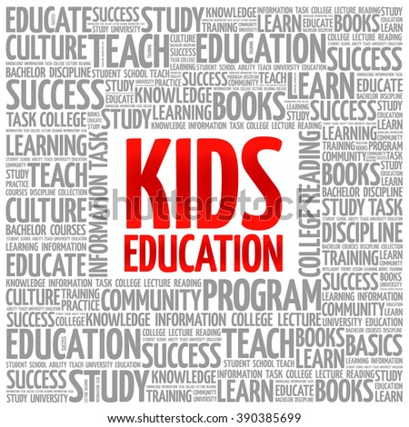 Kids Education word cloud, education concept background