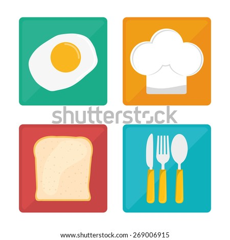 Kids menu design over white background, vector illustration. - stock vector