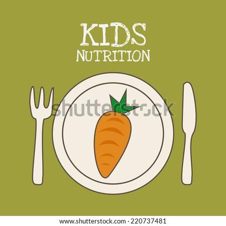 kids menu graphic design , vector illustration - stock vector