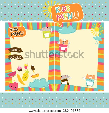 Kids Border Images RoyaltyFree Images Vectors – Free Kids Menu Templates