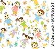 kids pattern - stock vector