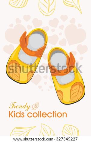 stock-vector-kids-shoes-trendy-collectio