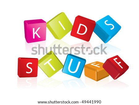 Kids Stuff Logo Kids Stuff Cube Letters in