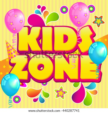 Kids Zone Banner Design. Children Playground Zone. Playground School. Fun Zone. Kids activity Area. Children Place.