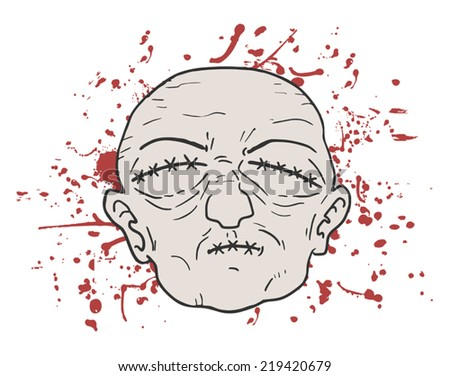 Kill face - stock vector