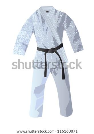 kimono for judo - stock vector
