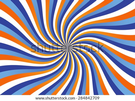 Kinetic Background Made of Wavy Stripes Vector Illustration - stock vector