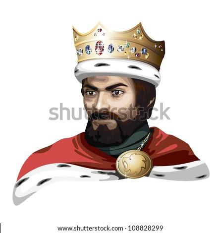 king - stock vector