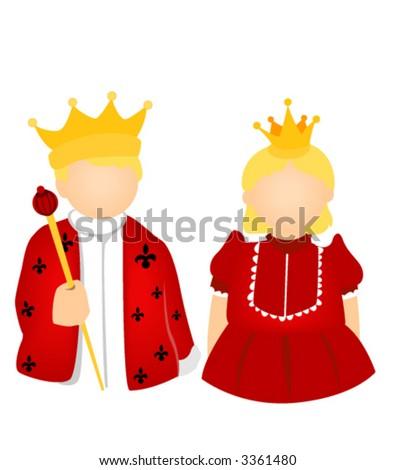 Clip Art King And Queen Clipart king queen kid costume vector stock 3361480 shutterstock and vector