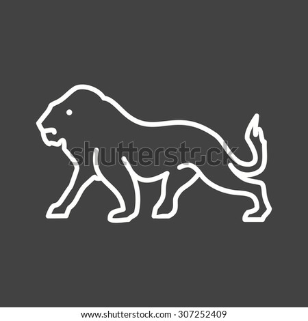 King, big cat, leopard icon vector image. Can also be used for Animals and Insects. Suitable for mobile apps, web apps and print media.