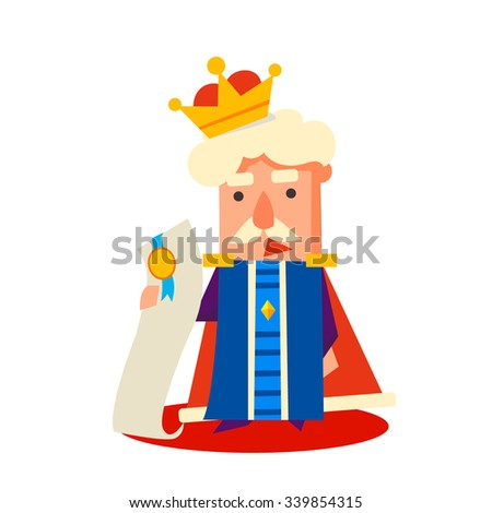 King Cartoon character, Emotion Vector Illustration Set