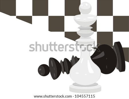 King chess. Abstract background. Vector - stock vector