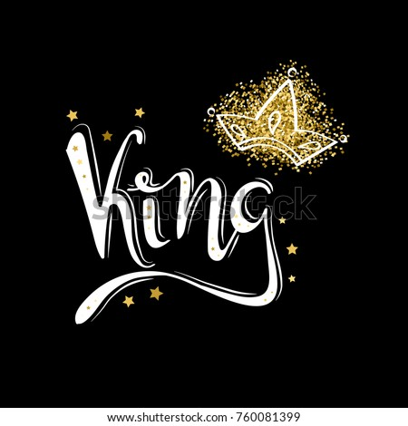 King Logo Template Icon Word Of The And Crown