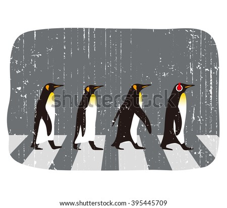 King Penguin walking, Penguin seed series - stock vector