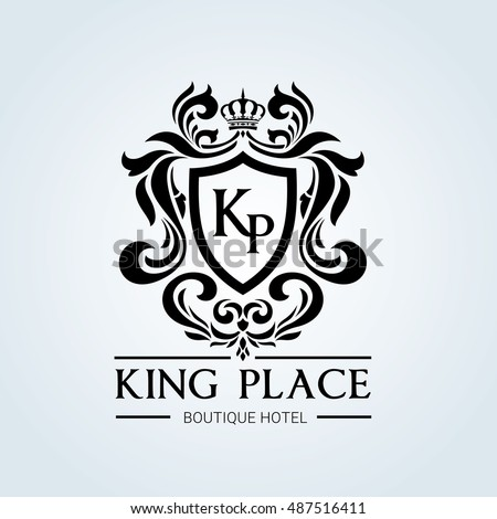 king place luxury brand logo template stock vector 487516411