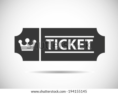 King Tickets Level - stock vector