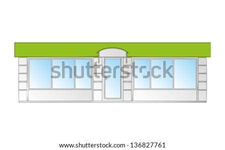 Kiosk vector illustration - stock vector