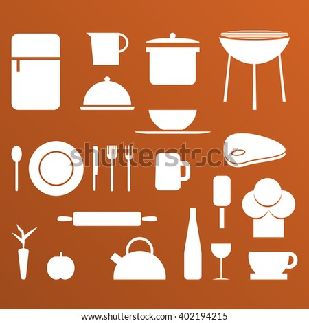 Kitchen Shapes kitchen food black vector shapes stock vector 402193915 - shutterstock