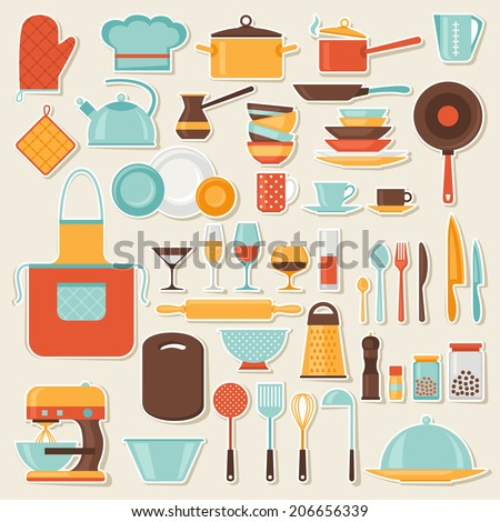 Restaurant Kitchen Illustration stock photos, royalty-free images & vectors - shutterstock