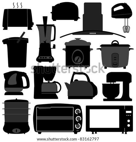 Kitchen Appliances Electronic Electrical Equipment Tool - stock vector