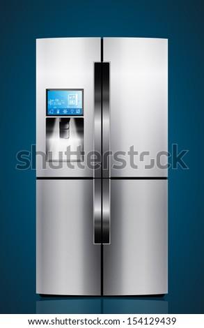 Kitchen appliances - Icebox, refrigerator, fridge  - stock vector