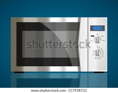 Kitchen appliances - Microwave - stock vector