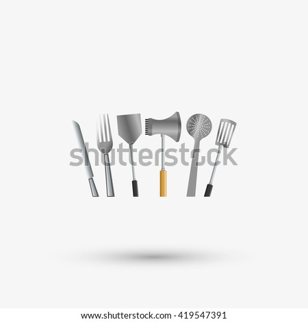 Kitchen Design. Supplies Icon. White Background, Vector Illustration Part 63