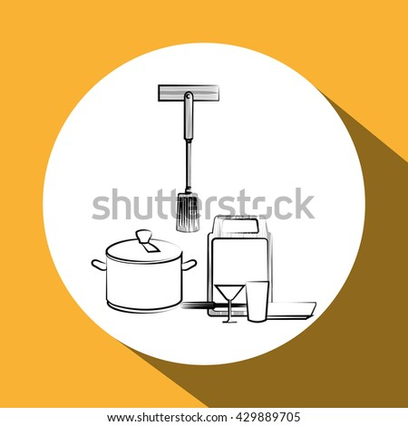 Kitchen Design. Supplies Icon. White Background, Vector Illustration Part 58