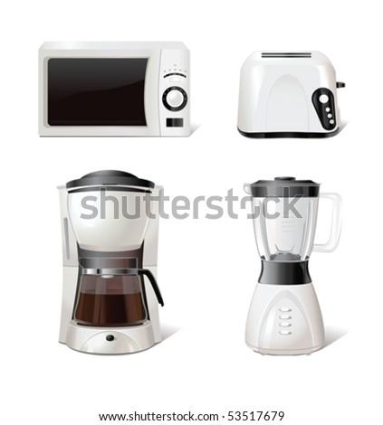 Kitchen equipment - stock vector