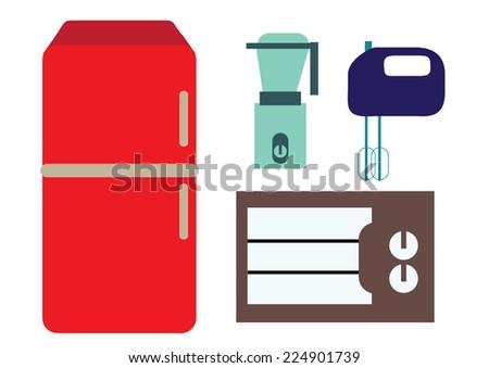kitchen equipment. vector illustration - stock vector