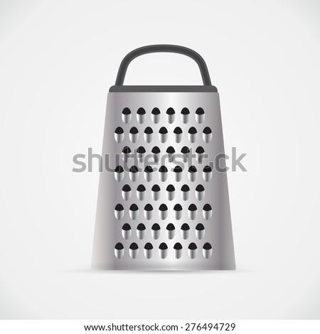 Kitchen grater, vector illustration - stock vector
