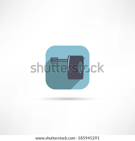 Kitchen hand mixer icon - stock vector