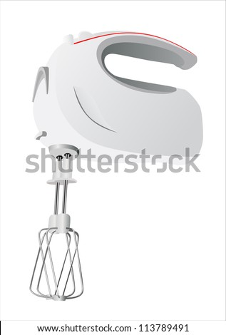 Kitchen hand mixer vector - stock vector
